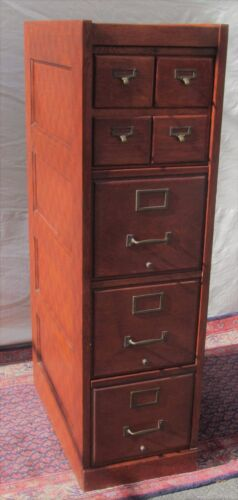 ANTIQUE OAK FILE CABINET WITH 4 OVER 3 DRAWER FORMAT-BEST QUALITY