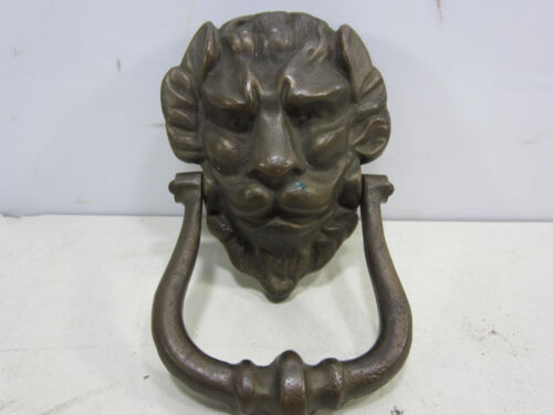 Vintage Solid Brass Lion Head Door Knocker