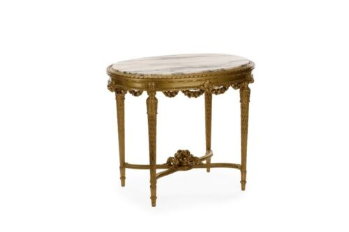 19th Century ( 1800s ) Louis XV or Rococo style Marble giltwood occasiona table.