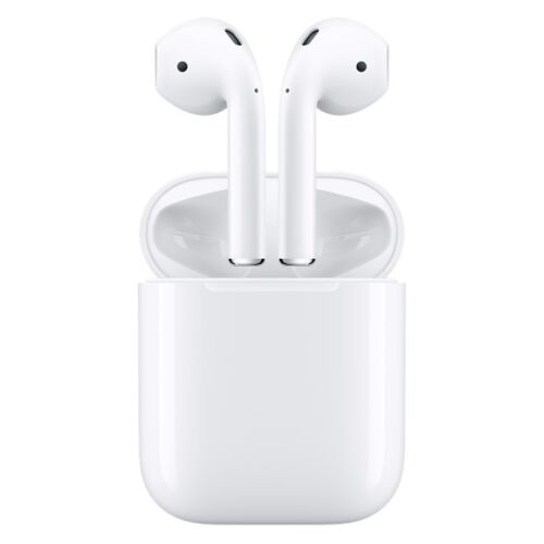 Apple AirPods White In-Ear Headsets w Charging Case!  BRAND NEW !1 YEAR WARRANTY