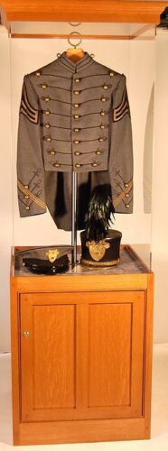 NEW Museum Oak wood Cabinet Display Case, Acrylic Cover, Military, Sports & more