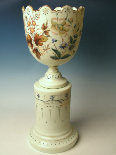 19th Century New England Glass 2 piece Large Urn/Vase Monteith