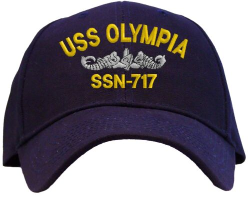 7263905385a USS Olympia SSN-717 Embroidered Baseball Cap - Available in 7 Colors - Hat