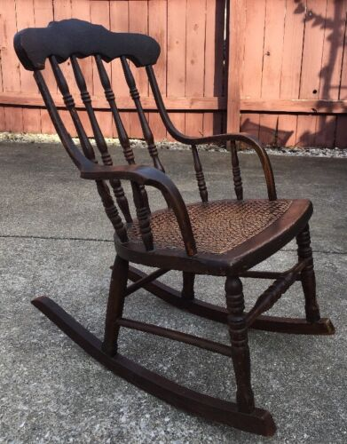 Vintage Rocking Chair Childs Antiques Us