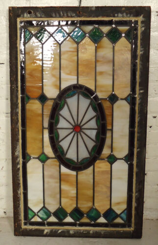 Unique Vintage Stained Glass Window Panel (2115)NS