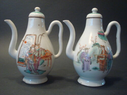 Antique Chinese  Famille Rose Teapots, Qianlong period, late 18th C