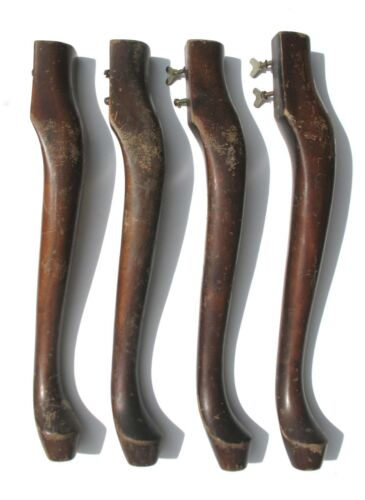 """Set of 4 matching Mahogany Queen Anne style Furniture Table Legs -  20 1/2"""" tall"""