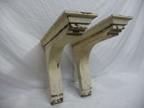 Two Craftsman Style Wood Corbels - C. 1910 Fir Very Large Architectural Salvage