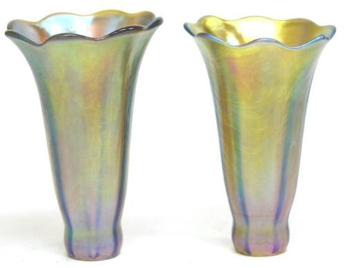 Pair of Glass Lily Shades After Tiffany Studios Lot 168