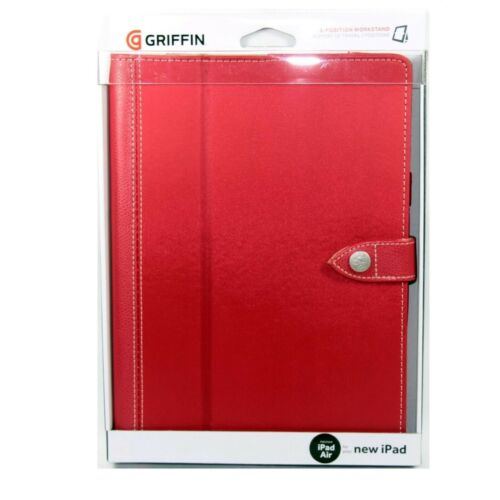 GRIFFIN CASE FOR IPAD AIR 1 FOLIO BACKBAY COVER STYLUS LOOP STAND RED GB37515