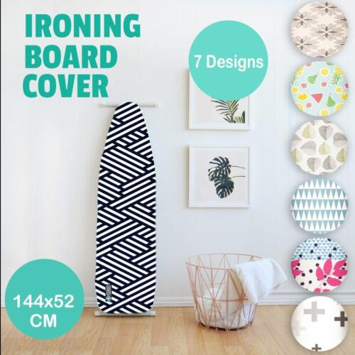 Ultra Thick Heat Retaining Felt Ironing Iron Board Cover Easy Fitted 144x52cm