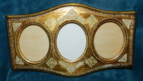 BEAUTIFUL VINTAGE/ANTIQUE GOLD FLORENTINE PICTURE PHOTO FRAME! MADE IN ITALY