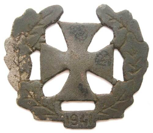 ORIGINAL GERMAN WW2 NAZI IRON CROSS with OAK LEAVES, 1941Medals, Pins & Ribbons - 156396