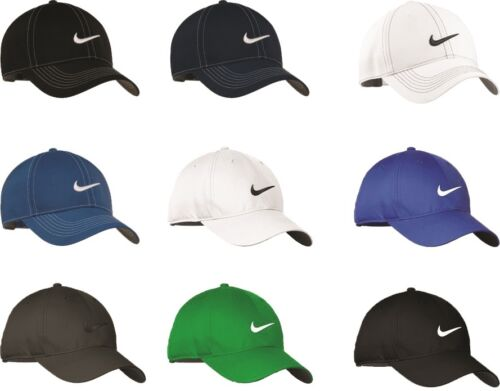 6f670801211e4 New with tags NIKE-GOLF-NEW-Adjustable-Fit-SWOOSH-FRONT-BASEBALL-HAT-CAP -DRI-FIT POLY