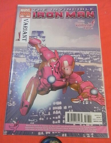 The Invincible IRON MAN #526- Komen Cure Variant - bagged 2008
