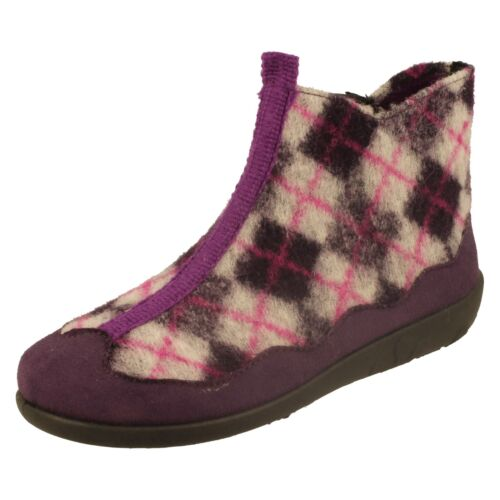 Ladies Rohde Ankle Boots - Check