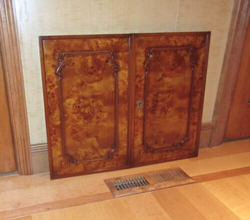 Vintage (1or2) Pair- Finest Italian Imported- BURLWOOD CABINET DOOR PANELS- NOS