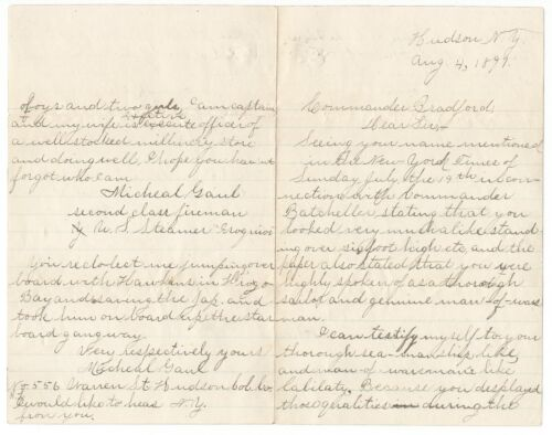 US Navy USS Iroquois Voyage Japan Storm Spanish-American War Letters 1891-1902