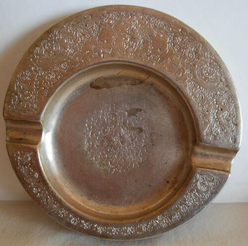 OLD PERSIAN SILVER ASHTRAY , HAND CHASED, 112.9 grams,   #1