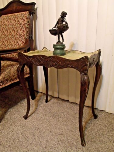 The Finest Antique Hand Carved French Display Lamp Side Table 1800s  Early 1900s