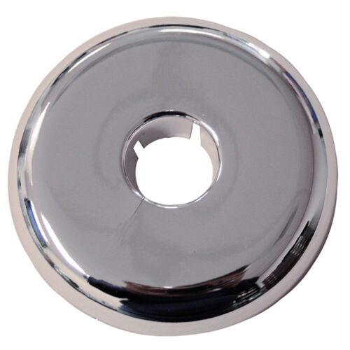 """Pack 12, Chrome Plated Plastic 2"""" IPS 4.450 Flange OD Flexible Floor and Ceiling"""