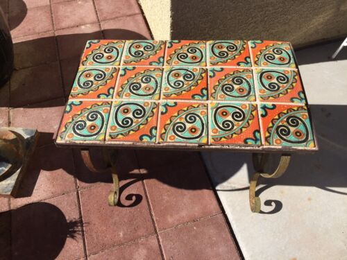 Table Arts And Crafts Tile And Iron