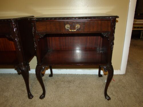 Antique Pair of Country French Side End Tables Night Stand