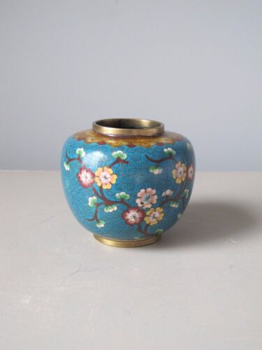 Antique Chinese Cloisonne Ginger Jar Republic Period Signed