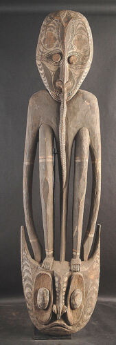 VERY LARGE CEREMONIAL SPIRIT HOOK  MIDDLE SEPIK RIVER PAPUA NEW GUINEA