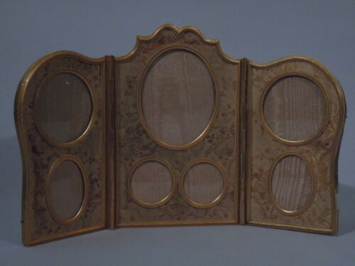 Belle Epoque Frame - Picture Photo - Triptych - French Gilt Bronze