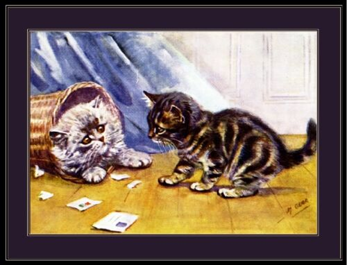 CATS ~ ALPHABET SAYINGS 22x34 ANIMAL POSTER Cat Faces Animals Kitten Knead You