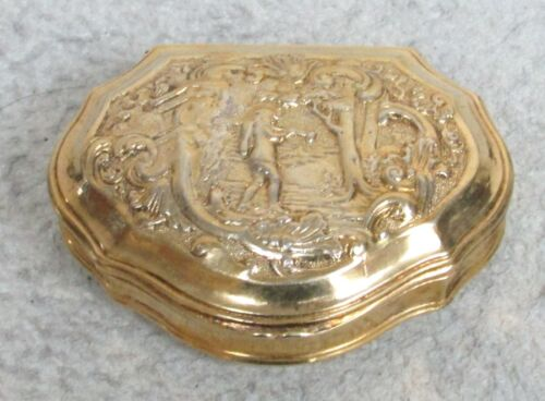 RARE CIRCA 1790's FRANCE GILDED CONTINENTAL SILVER SNUFF BOX