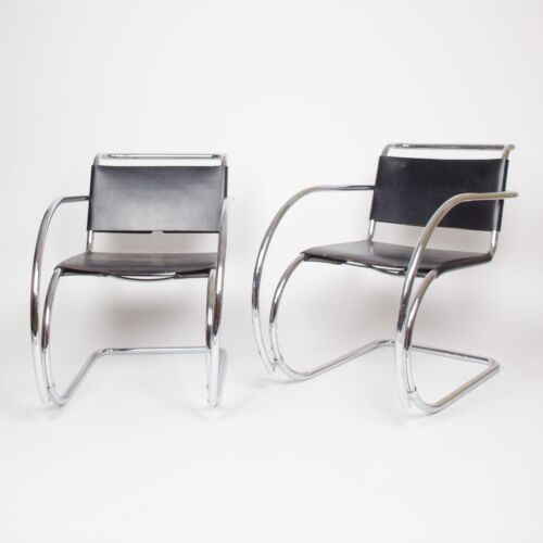 Knoll International Mies Van Der Rohe MR20 Lounge Armchairs Bauhaus Eames