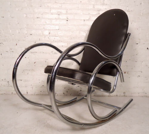 Vintage Modern Chrome and Vinyl Rocker (07258)NS