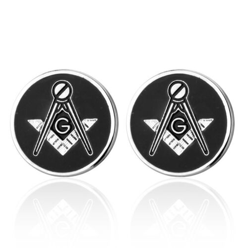 Classic Round Free Mason Cufflinks Men Wedding Party Gift Shirt Cuff Links