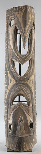 LARGE OPENWORK DOUBLE FACED SPIRIT CARVING WASHKUK HILLS PAPUA NEW GUINEA