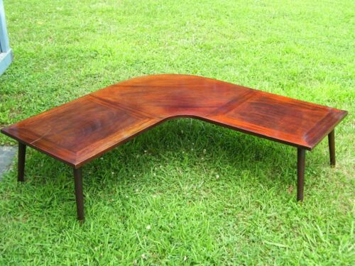VINTAGE MID CENTURY ROSEWOOD L SHAPED COFFEE TABLE- RARE- UNIQUE!