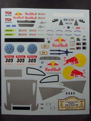 DECALS 1/32 VOLKSWAGEN TOUAREG 2 - #305 - WINNER DAKAR 2009 - COLORADO 32145