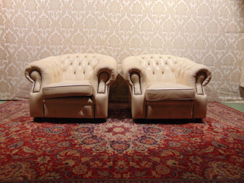 Coppia di Poltrone Chesterfield Originale Inglese