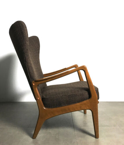 Vintage Mid Century Danish Modern Wingback Lounge Chair Adrian Pearsall Style