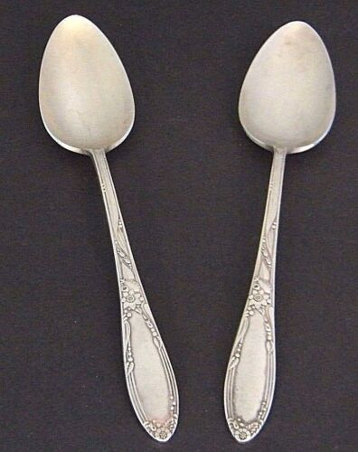 "2 Pc LOT CHATEAU ONEiDA HEiRLOOM SiLVERPLATE 8.5"" CASSEROLE SERViNG SPOON's"