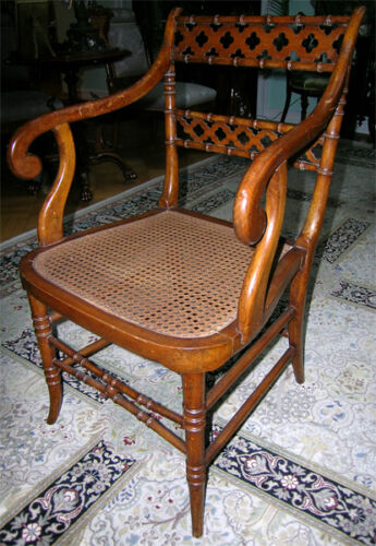 ENGLISH AESTHETIC BAMBOO FORM ARMCHAIR