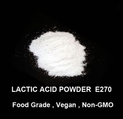 200g of Food grade Lactic acid Powder    –   Vegan , Gluten Free , Non-GMO
