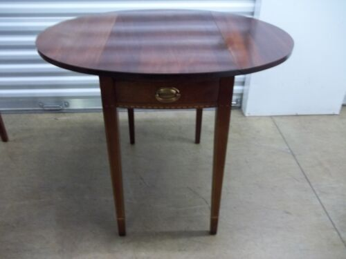 Biggs Furniture Mahogany Hepplewhite Pembroke Table with Inlay