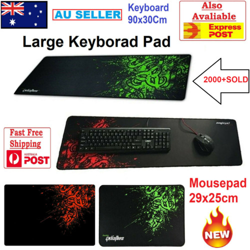 New 90x30cm Big Size Desk Mat Black & Red Extended Gaming Large Mouse Pad XXL