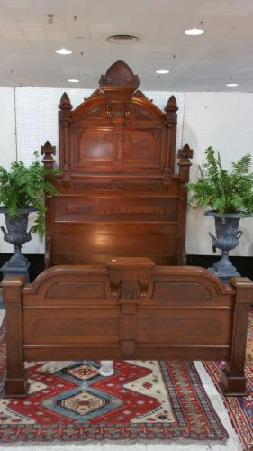 1870s Walnut Eastlake full size bed