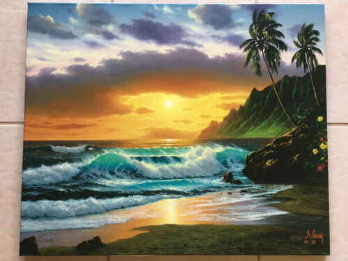 Anthony Casay 'Sunset Dream'- sold out S/N Giclee #44/200-Hawaii seascape
