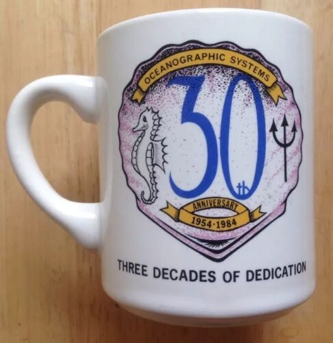 1984 OCEANOGRAPHIC SYSTEMS 30TH ANNIVERSARY DEFENSE CONTRACTOR COFFEE MUGOther Militaria - 135