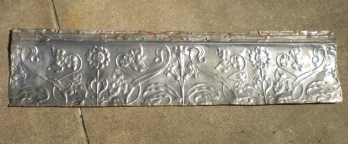 SALE Antique Victorian Ceiling Tin Tile Iridescent Flowers Leaves Chic Pinterest