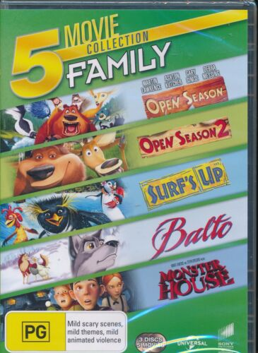 Open Season 1 and 2 Surf's Up Balto Monster House DVD NEW Region 4